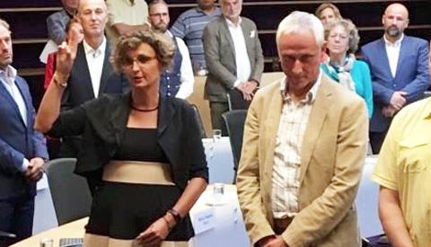 Installatie Alma Feenstra als gemeenteraadslid GroenLinks Nieuwegein
