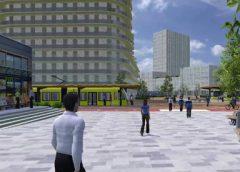 Eerste impressie verbouwing P-West en tramstation in de binnenstad van Nieuwegein