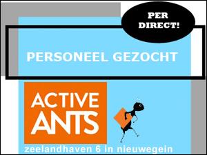 Active Ants zoekt personeel!