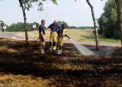 Weer bermbrand op de Lekdijk langs de A27 bij Nieuwegein