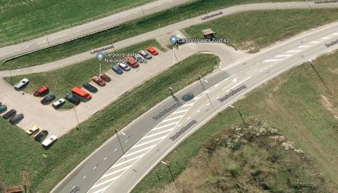 Oprit A2 richting zuiden afgesloten door aanleg Carpoolplaats