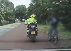 Viedeo: Politie legt arrestatie fietsendief vast via dashcam