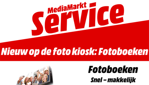 Nieuw op de foto kiosk bij MediaMarkt Nieuwegein: Fotoboeken!