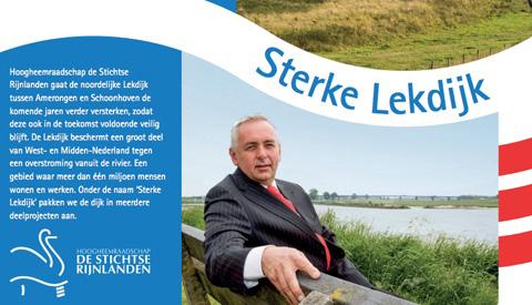 Hoogheemraadschap versterkt de Lekdijk