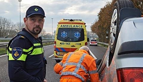 Getuigen gezocht van aanrijding op A2 bij Nieuwegein