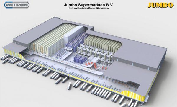 Gemechaniseerd distributiecentrum van Jumbo in Nieuwegein na de zomer operationeel