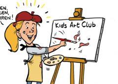 PENTekening: 'Kinderen Kids Art Club exposeren'