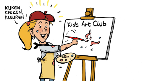 PENTekening: 'Kinderen Kids Art Club exposeren'