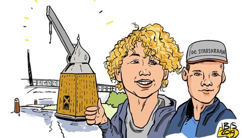 PENTekening: 'Wie gaan daar een Middeleeuwse stadskraan herbouwen?'