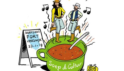 PENTekening: 'Soep&Cultuur in Dorpshuis Vreeswijk'