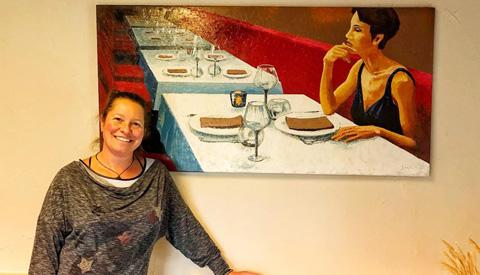 Expositie Sasja Bork in De Middenhof: 'Kunst naast je bord'