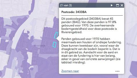 Veel woningen in Nieuwegein in 'het paars' en hebben kans op funderingsproblemen
