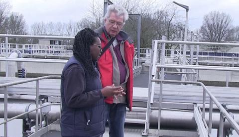 Impressie van het zuiveren van ons afvalwater tijdens de Open Dag bij het Waterschap