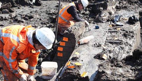Visvangstplek uit vroege middeleeuwen ontdekt bij opgraving in Nieuwegein