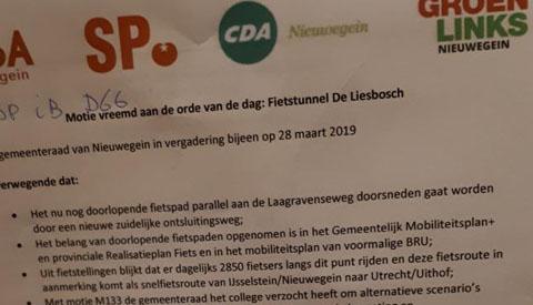 """""""Gemeenteraad Nieuwegein houdt van de fiets"""""""