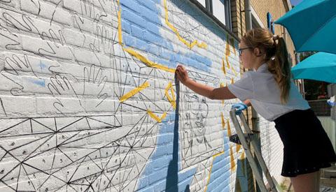 Community Art in Fokkesteeg vandaag gestart
