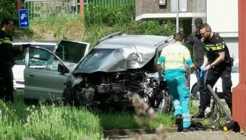 Bestuurder overleden bij ongeval op de A.C. Verhoefweg