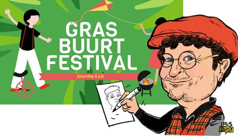PENTekening: 'Gras Buurt Festival'