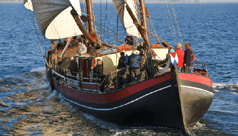 Museumwerf Vreeswijk halte in historische turftocht Veenendaal-Antwerpen 2019