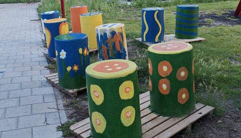 Kleurrijke kunst ter verbetering van de wijk