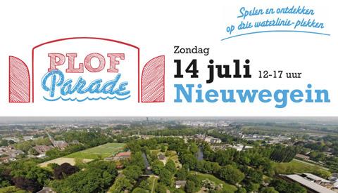 Partners stadsmarketing Nieuwegein organiseren PLOFparade