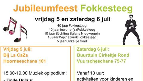 De wijk Fokkesteeg is jarig en dat wordt gevierd!
