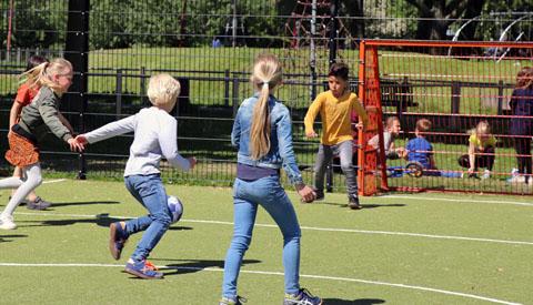 Opening voetbalkooi De Vleugel door Sport ID Nieuwegein