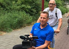 Geslaagde bijzondere fietstocht door Nieuwegein met jubilerende Arie Liefhebber