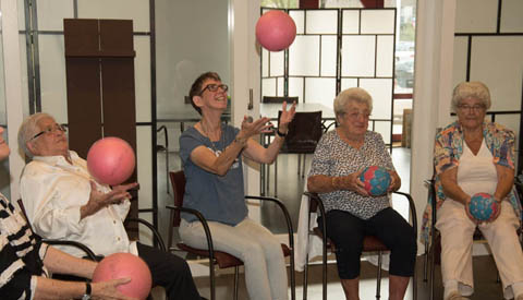 Bewegen met een bal op het AHN Zomerfestival