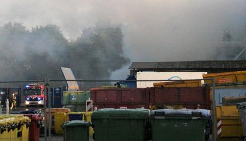 Brand bij afvalverwerker Renewi op de Kleine Wade