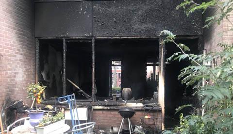 Geen gewonden bij brand in appartement aan de Lijsterbesstraat
