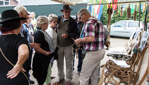 Themazondag Museumwerf Vreeswijk: 'knopen en splitsen'