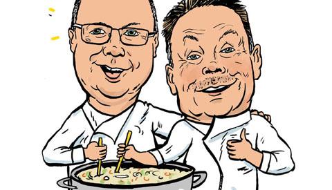 """PENTekening: 'Buren Pot op de 'Kook voor je Buur 10Daagse"""""""