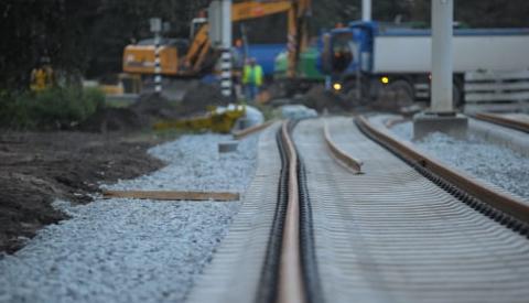 Werkzaamheden aan trambaan Nieuwegein-Zuid