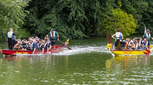 Brandweer Nieuwegein wint tweede keer op rij het Drakenboot Festival