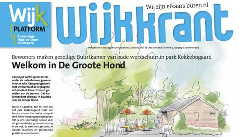 Wijkkrant weer on-line voor Zuilenstein, Huis de Geer en Blokhoeve