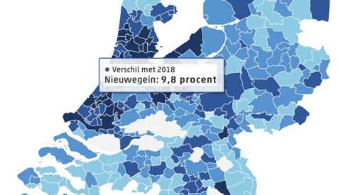 WOZ-waarde in Nieuwegein gestegen met 9,8%
