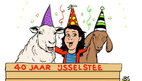 PENTekening: 'Geiten en schapen klaar voor het feest!'