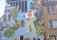 Muurschildering gereed aan de Rapenburgerschans