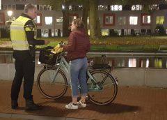 Fietsverlichtingsactie in Nieuwegein