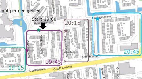 Lichtjestocht met info over het eerste ontwerp Buurtaanpak Schansen-Zuid