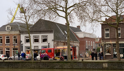 Videobeelden grote brand in Grillroom Kings Valley in Vreeswijk