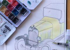 'Sketchcrawl' tekenen met KunstGein Podium bij Damsté Nieuwegein