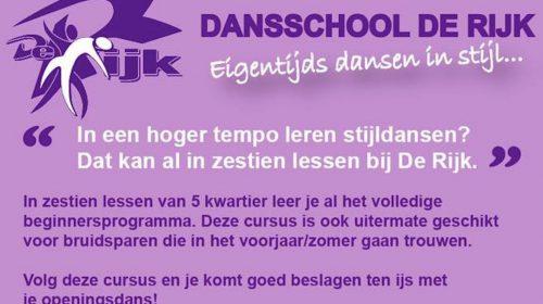Eigentijds maar onveranderd Dansen in Stijl bij Dansschool De Rijk in Nieuwegein