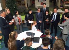 Japanse delegatie uit Utsunomiya op bezoek bij Lucas Galecop