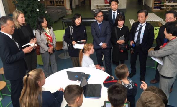 Japanse delegatie op bezoek bij Lucas Galecop