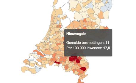 Aantal Coronabesmettingen in Nieuwegein stijgt van 9 naar 11