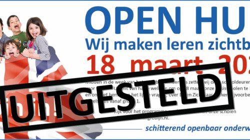 Open dag openbare basisscholen uitgesteld