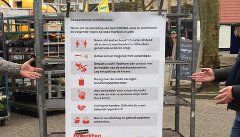 Markten in Nieuwegein blijven beperkt open met alleen food kramen