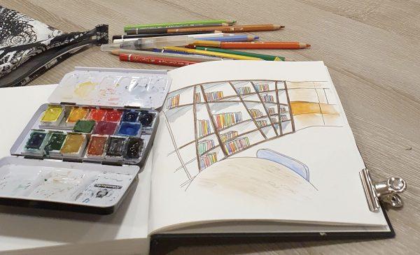 'Sketchcrawl' in de bieb De tweede verdieping